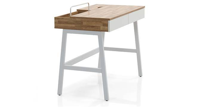 Terry - Adams Study Set (Grey, Golden Oak Finish) by Urban Ladder
