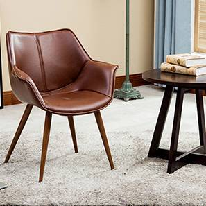 Keaton Lounge Chair (Brown) by Urban Ladder