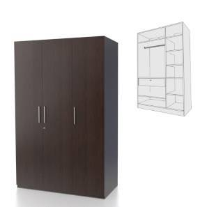 Domenico XL Wardrobe (Three Door, Without Mirror Configuration)