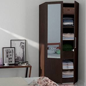 Domenico XL Wardrobe (Two Door, With Mirror Configuration)
