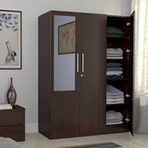 Domenico Wardrobe (Three Door, Yes Mirror, Without Drawer Configuration)