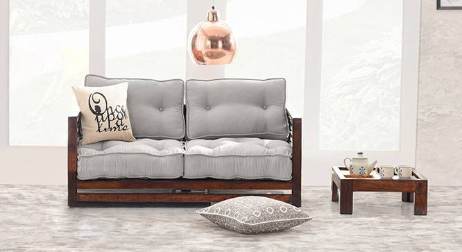 Raymond Low Wooden Sofa 2 Seater
