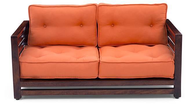 Raymond Low Wooden Sofa 2 Seater (Walnut Finish, Rust) by Urban Ladder