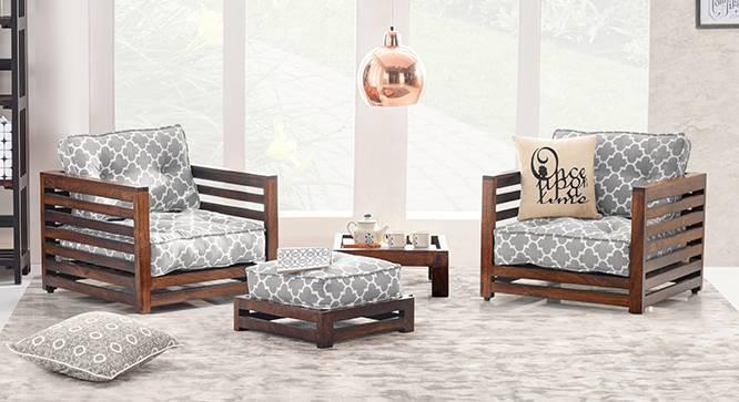 Raymond low wooden sofa standard set 1 1 urban ladder for Low sofa set