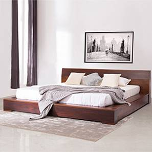 Duetto Bed (Two-Tone Finish, Queen Bed Size)