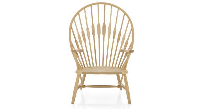 Peacock Chair Replica (Yellow, Natural Finish) by Urban Ladder