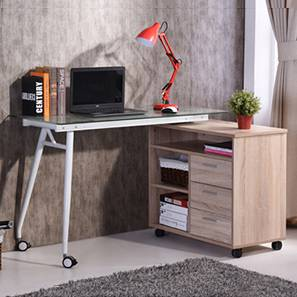 Niccol Adjustable Study Table (Light Oak Finish)