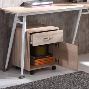 Noah Storage Cabinet (Natural Oak Finish, 1 Drawer 1 Cabinet Configuration) by Urban Ladder