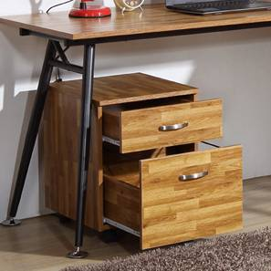 Noah Storage Cabinet (Golden Oak Finish, 2 Drawer Configuration) by Urban Ladder