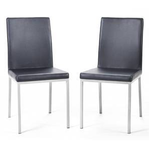 Lupo Dining Chair - Set of 2 (Black) by Urban Ladder