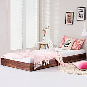 Merritt Trundle Bed (Teak Finish, Single Bed Size)