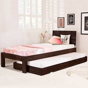 Yorktown Single Bed with Trundle (Mahogany Finish, Single Bed Size)
