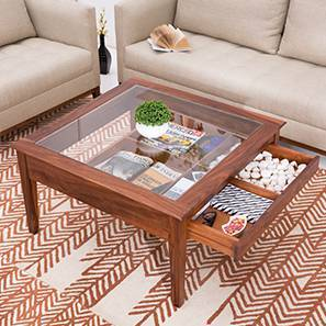 Tate Display Coffee Table (Teak Finish)