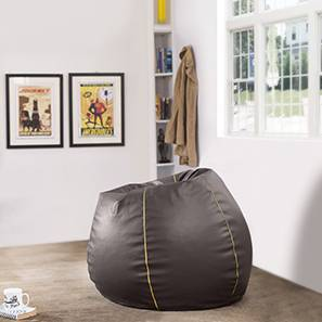 Baggo Leatherette Beanbag (Brown, Large Size, Without Beans Variant)