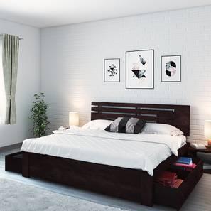 Stockholm Storage Bed (Mahogany Finish, King Bed Size)