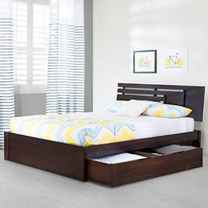 Stockholm Storage Bed (Mahogany Finish, Queen Bed Size) by Urban Ladder