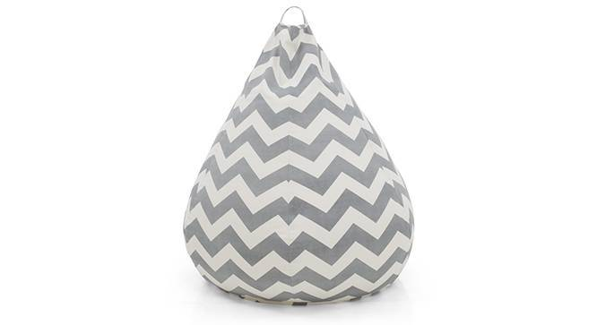 Baggo Canvas Beanbag (Large Size, Without Beans Variant, Chevron Grey) by Urban Ladder