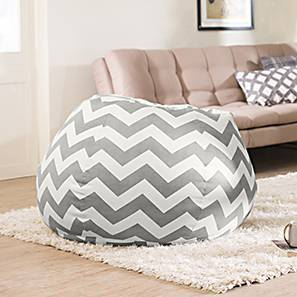 Baggo Canvas Beanbag (Large Size, With Beans Variant, Chevron Grey)