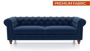 Winchester Fabric Sofa (Cobalt Blue)