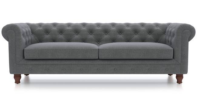 Winchester Fabric Sofa (Smoke Grey) (Smoke, Fabric Sofa Material, Regular Sofa Size, Regular Sofa Type)