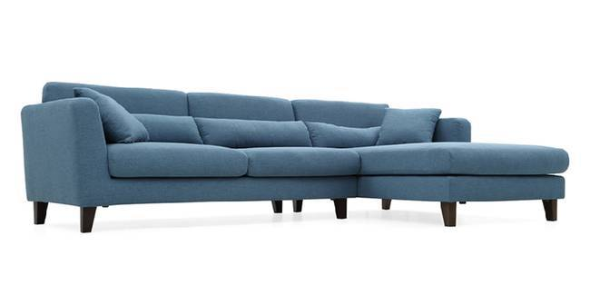 Lewis Sectional Sofa (Blue) (Blue, Fabric Sofa Material, Regular Sofa Size