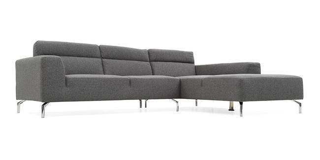 Lancaster Sectional Sofa (Grey) (Grey, Fabric Sofa Material, Regular Sofa Size, Sectional Sofa Type)