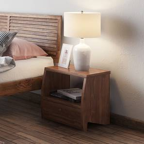 Siesta Bedside Table (Teak Finish) by Urban Ladder