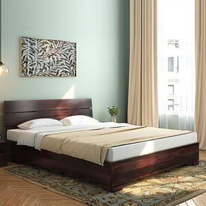 Bon Ohio Bed (Mahogany Finish, Queen Bed Size) By Urban Ladder