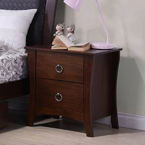 Captivating Packard Bedside Table (Dark Walnut Finish) By Urban Ladder