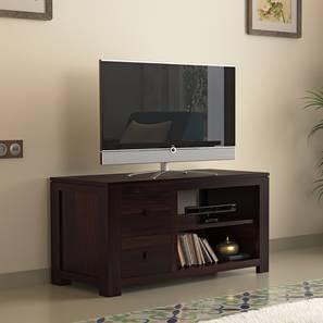 Striado TV Unit (Mahogany Finish) by Urban Ladder