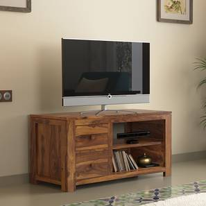 Striado TV Unit (Teak Finish) by Urban Ladder