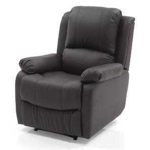 Tribbiani Recliner (Chocolate Brown Leatherette) by Urban Ladder