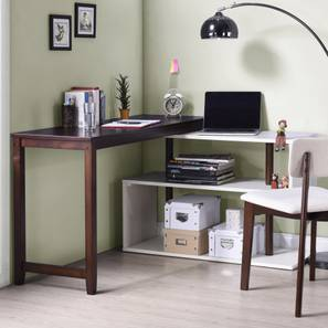 Tolstoy Study Table (Dark Walnut Finish) by Urban Ladder