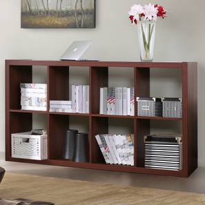 Boeberg Bookshelf (Dark Walnut Finish, 4 x 2 Configuration, Without Inserts)