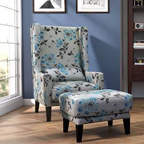 Morgen Wing Chair & Ottoman (Lilly of the Nile)