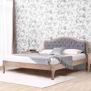 Lyon Bed (Grey, King Bed Size, Natural Finish)