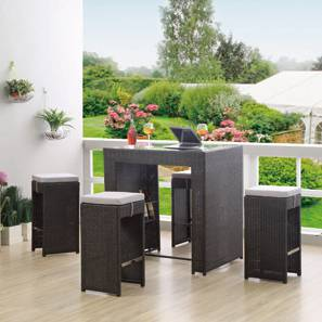 Boraca Patio Bar Table Set (Brown)
