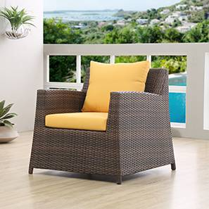Samui Patio Chair (Brown Finish) by Urban Ladder