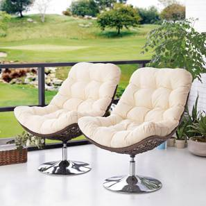 Calabah Swivel Lounge Chair - Set Of 2 (Cream)