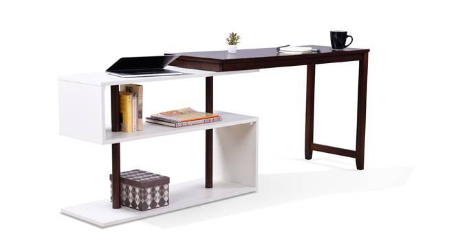 Tolstoy - Mika Study Set (White, Dark Walnut Finish) by Urban Ladder