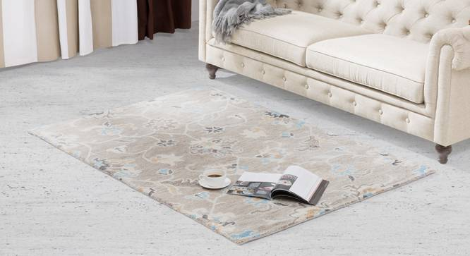 "Sardis Hand Tufted Carpet (48"" x 72"" Carpet Size, Fossil Grey) by Urban Ladder"