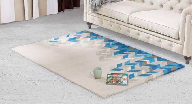 "Matelski Hand Tufted Carpet (60'' x 93"" Carpet Size, Sea Blue) by Urban Ladder"
