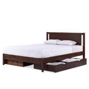 brandenberg storage bed king bed size dark walnut finish