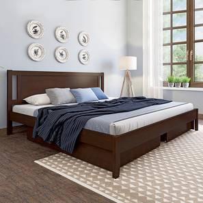 Brandenberg Storage Bed (Queen Bed Size, Dark Walnut Finish) by Urban Ladder