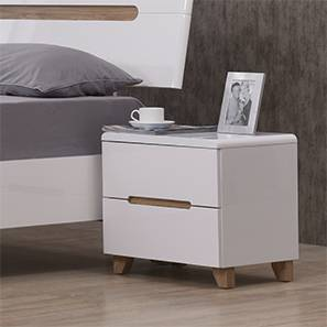 Oslo Bedside Table (White Finish) by Urban Ladder