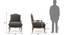 Lyon Wooden Sofa – 2-1-1 Set (Grey Fabric, Distressed Wood Finish) by Urban Ladder