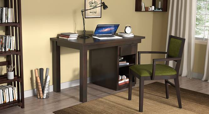 Bradbury - Aurelio Study Set (Mahogany Finish, Olive, Compact Size) by Urban Ladder