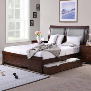 Storage beds buy king and queen storage beds online in for Double cot designs