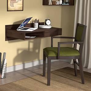 Wodehouse  - Aurelio Study Set (Walnut Finish, Olive) by Urban Ladder