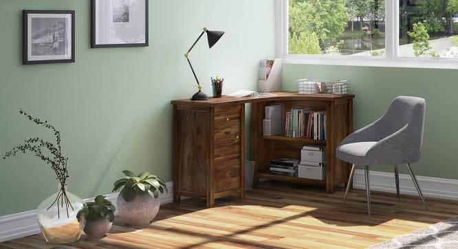 Dickens Corner Desk (Teak Finish) by Urban Ladder